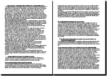 Commentaire de l'arrêt de la Chambre criminelle de la Cour de cassation du 16 décembre 2009: la non-rétroactivité de la loi