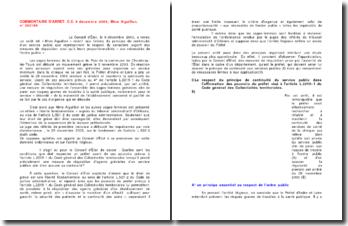 Commentaire d'arrêt du Conseil d'Etat rendu le 9 décembre 2003: la réquisition d'agents grévistes d'un service public