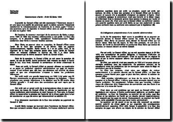 Commentaire d'arrêt du Conseil d'Etat du 8 juillet 1904