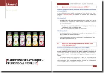 Marketing stratégique: étude de cas Nesfluid