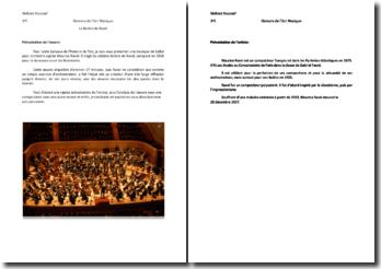 Présentation du Boléro de Ravel