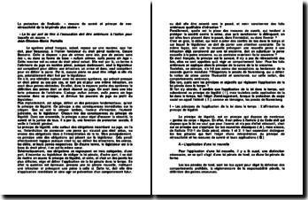La protection de l'individu: « mesure de sureté et principe de non-rétroactivité de la loi pénale plus sévère »