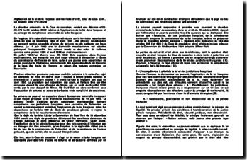 Application de la loi dans l'espace: commentaire d'arrêt, Cour de Cass. Crim., 23 octobre 2002 n 0-85379