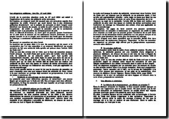 Les obligations solidaires, 1ère Civ., 27 avril 2004