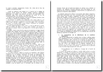 La vente à réméré, commentaire d'arrêt, Civ. 3ème de la Cour de cassation, 20 décembre 2006