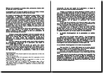 Réforme de la prescription en matière civile, commentaire d'article 2254 du code civil, loi du 17 juin 2008