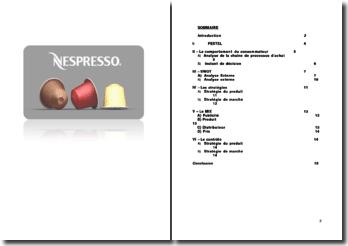 Etude de cas: Nespresso - SWOT, MIX, contrôle du marché