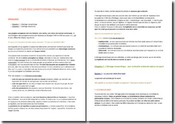 Etude des constitutions françaises