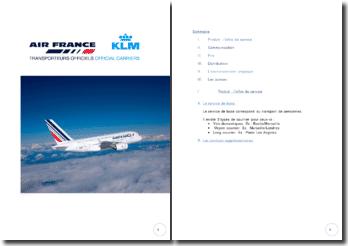 Etude de cas, entreprise Air France