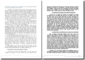 Les différents types de biens, commentaire d'arrêt, Assemblée Plénière de la Cour de Cassation, 15 avril 1988