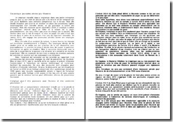 Cas pratique: poursuites pénales pour filouterie
