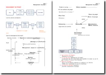 Le management de projet, de la formalisation à la phase de définition du projet