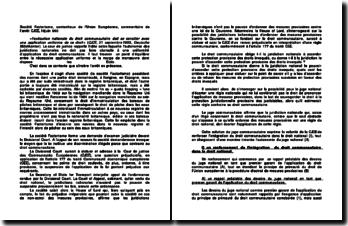 Société Factortame, contentieux de l'Union Européenne, commentaire de l'arrêt CJCE, 19juin 990