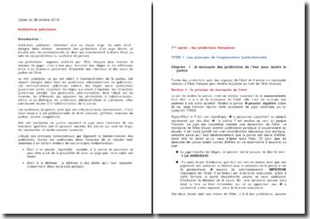 Les juridictions françaises