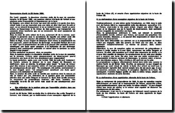 la faute de l'enfant et les relations entre l'imputabilité et l'appréciation de la faute, 2ème Civ. de la cour de cassation, le 28 février 1996