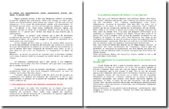 La chasse aux consentements viciés, commentaire d'arrêt, Civ. 3ème, 17 janvier 2007
