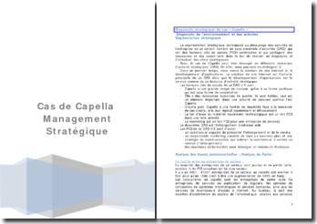 Management stratégique: cas de Capella