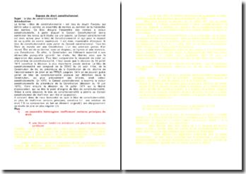 Le bloc de constitutionnalité constitue-t-il une création de droit ?
