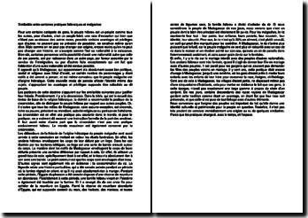 Similarités entre certaines pratiques hébraïques et malgaches