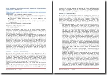 Droit processuel: les règles du procès communes aux principales juridictions