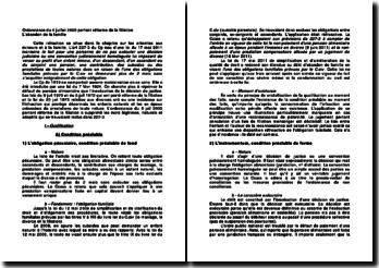 Ordonnance du 4 juillet 2005 portant réforme de la filiation