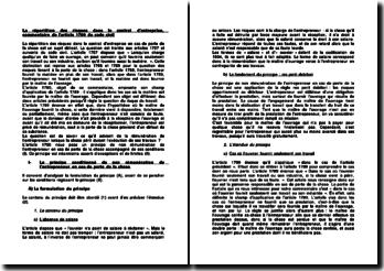La répartition des risques dans le contrat d'entreprise, commentaire de l'article 1790 du code civil