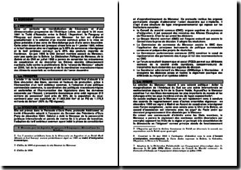 Le MERCOSUR - structure institutionnelle et perspectives (2012)