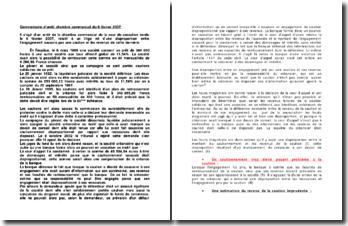 Litige né d'une disproportion entre l'engagement souscris par une caution et les revenus de cette dernière, commentaire d'arrêt de la Cour de cassation, chambre commerciale du 6 février 2007