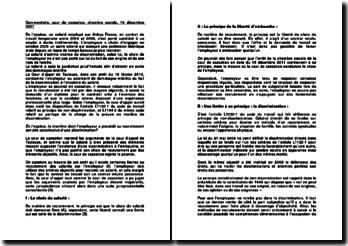 Commentaire, cour de cassation, chambre sociale, 15 décembre 2011