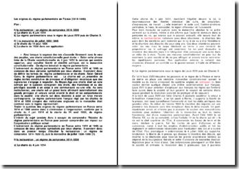 Les origines du régime parlementaire en France (1814-1848)