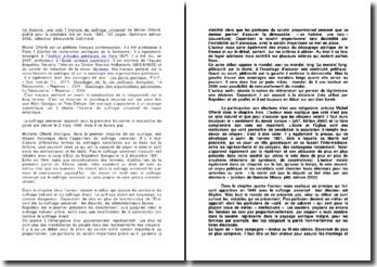Un homme, une voix ? Histoire du suffrage universel de Michel Offerlé (1993)