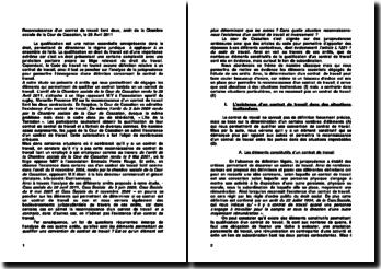 Reconnaissance d'un contrat de travail liant deux contractants, arrêt de la Chambre sociale de la Cour de Cassation, le 28 Avril 2011
