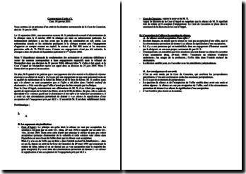 Commentaire d'arrêt de la Chambre commerciale de la Cour de Cassation daté du 18 janvier 2001 : silence et acceptation