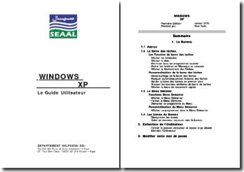 Un guide utilisateur de Windows XP