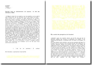 Contrôle fiscal et administration du royaume : le rôle des intendants (1684)