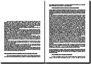 Commentaire d'arrêt de la Troisième Chambre civile de la Cour de cassation daté du 6 octobre 2004 : le défaut de conformité de la chose vendue et le vice caché