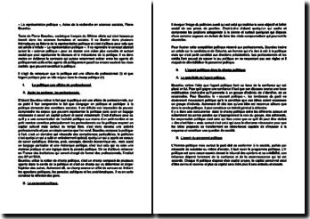 « La représentation politique », Actes de la recherche en sciences sociales, Pierre Bourdieu
