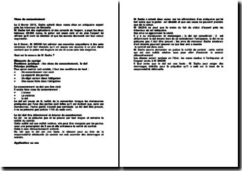 Dol et vices de consentement : Cas de M. Sacha