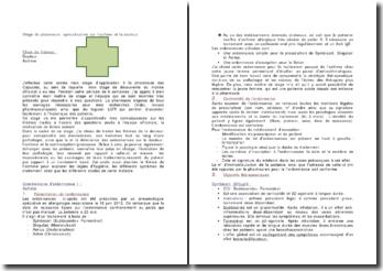 Stage de pharmacie, spécialisation sur l'asthme et la douleur