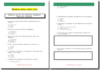 Réunion autour des incidents Helpdesk Direction Clientèle de l'entreprise SEAAL