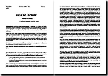 L'opinion publique n'existe pas - Pierre Bourdieu