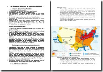 Les fondements territoriaux de la puissance américaine