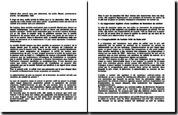 Validité d'un contrat sans prix déterminé, les arrêts Alcatel, commentaire d'arrêt, 1er décembre 1995