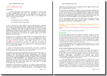 Les sujets et les sources fondamentales du droit international public