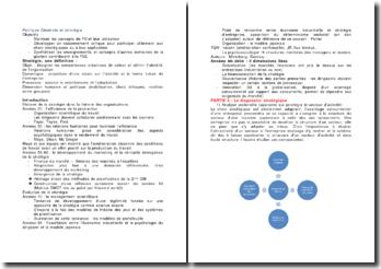 Politique Générale et stratégie (PGE)