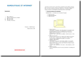 Structure externe et structure interne d'un ordinateur