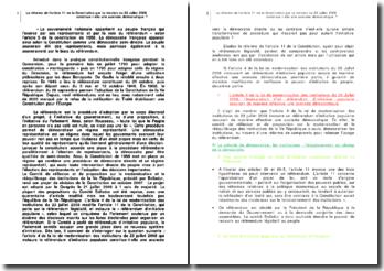 La réforme de l'article 11 de la Constitution par la révision du 23 juillet 2008 constitue-t-elle une avancée démocratique ?