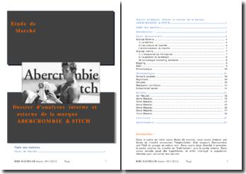 Dossier d'analyses interne et externe de la marque ABERCROMBIE & FITCH