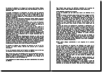 La carence du débiteur et la charge de la preuve dans l'action oblique, commentaire d'arrêts, 1ère chambre civile, Cour de Cassation, 5 mai et 10 décembre 1991