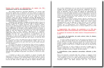 Analyse d'un contrat et détermination du régime de TVA , commentaire d'arrêt du CE, 20 décembre 2011
